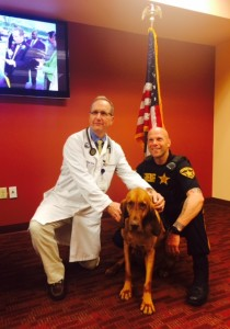 Mercer County Sheriff's Officer and K-9 partner attended the event