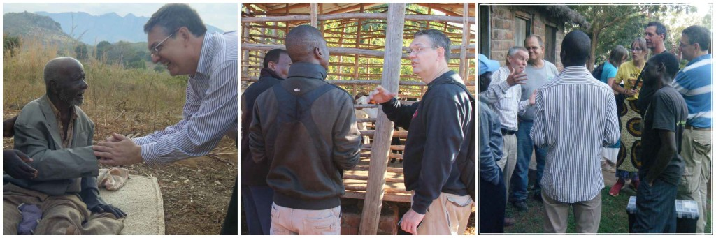 Dr. Tamassia working with local farmers in Malawi