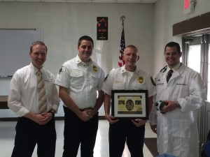 Chesterfield Fire Company Recieving Award from NorthStar VETS
