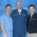 (from left to right) Dr. Garrett Levin, Dan Vinai, Dr. George Motley