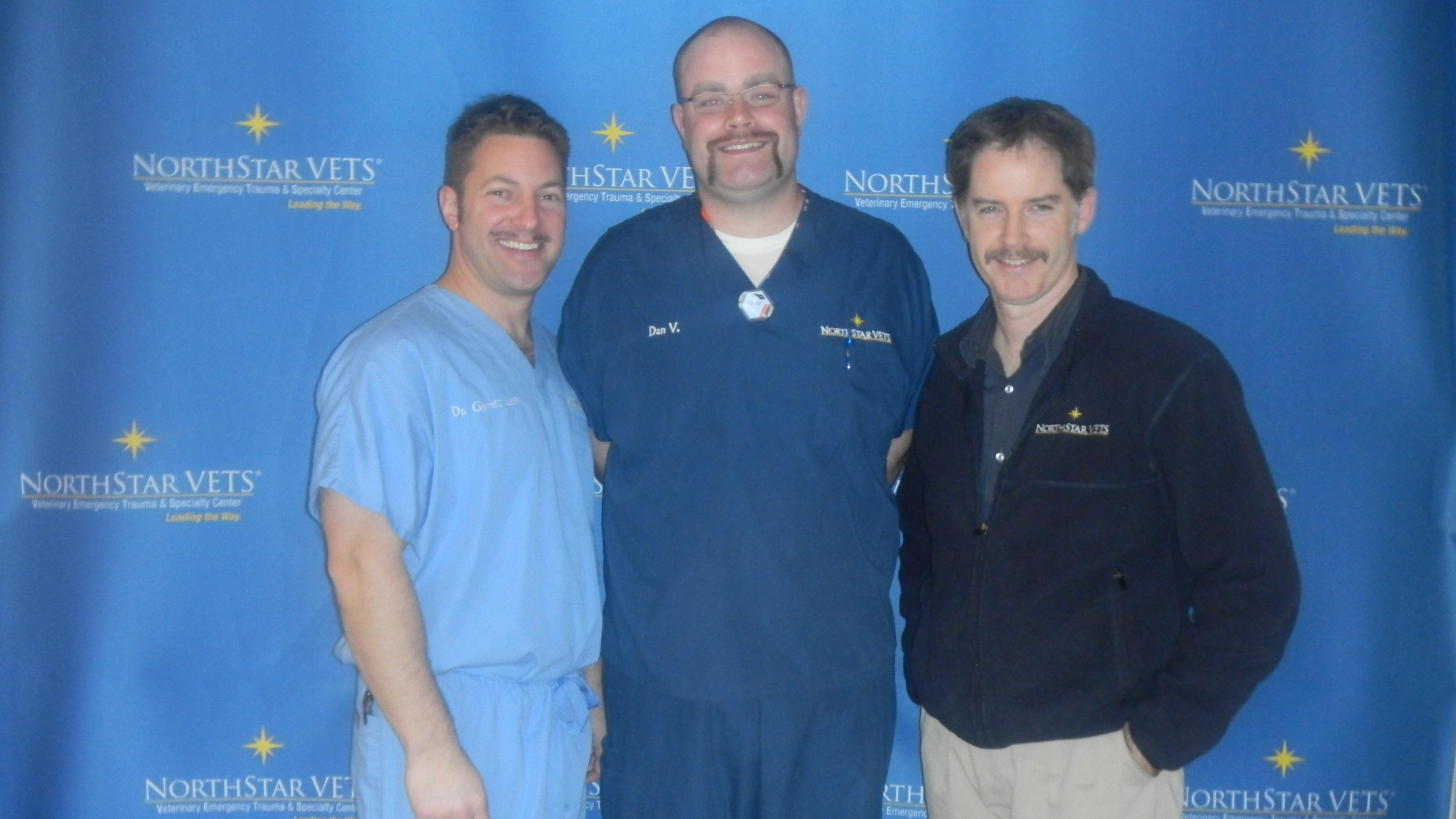 (from left to right) Dr. Garrett Levin, Dan Vinai, Dr. George Motley